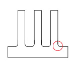 After 立ち壁の強度を向上させ、精度の高い微細溝加工を行なうポイント