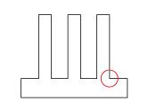 Before 立ち壁の強度を向上させ、精度の高い微細溝加工を行なうポイント